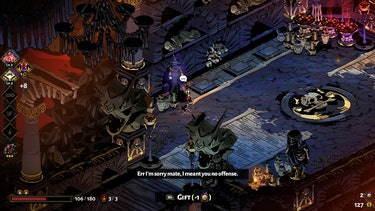 A screenshot of Charon and Zagreus.