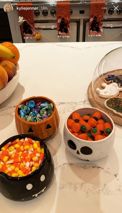 Put out candy as an easy way to decorate for halloween
