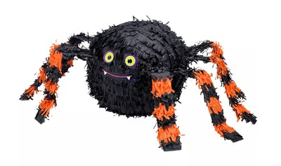 Orange & Black Spider Piñata