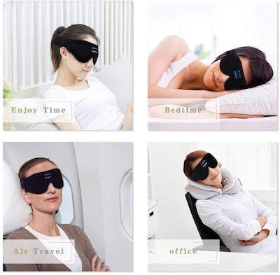Lightimetunnel Bluetooth Sleep Headphone Mask
