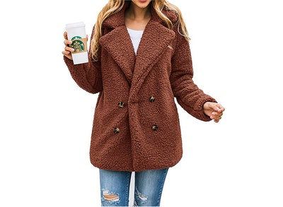 PRETTYGARDEN Women's Long Sleeve Oversized Coat Jacket