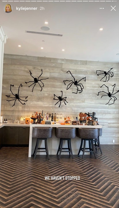 Spiders on the wall is an easy Halloween decor idea anyone can do