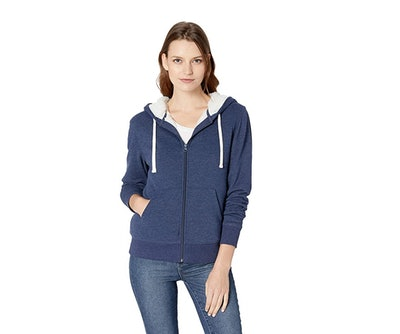 Amazon Essentials Women's Sherpa-Lined Hooded Jacket