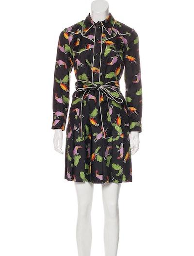 Silk Toucan Dress