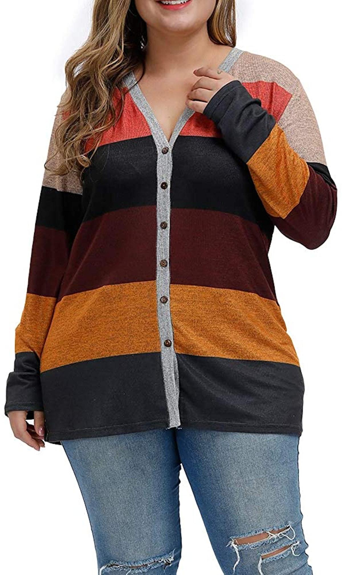 Allegrace Color-Block Cardigan