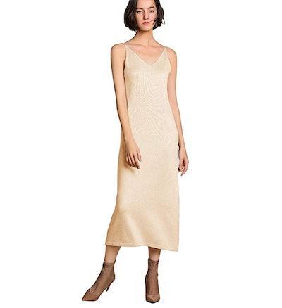 RanRui Cashmere Knitted Slip Dress