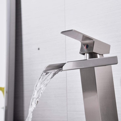 Bathlavish Waterfall Bathroom Sink Faucet