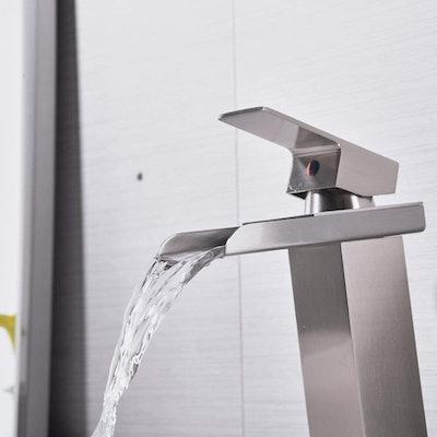 Bathlavish Waterfall Bathroom Sink Faucet