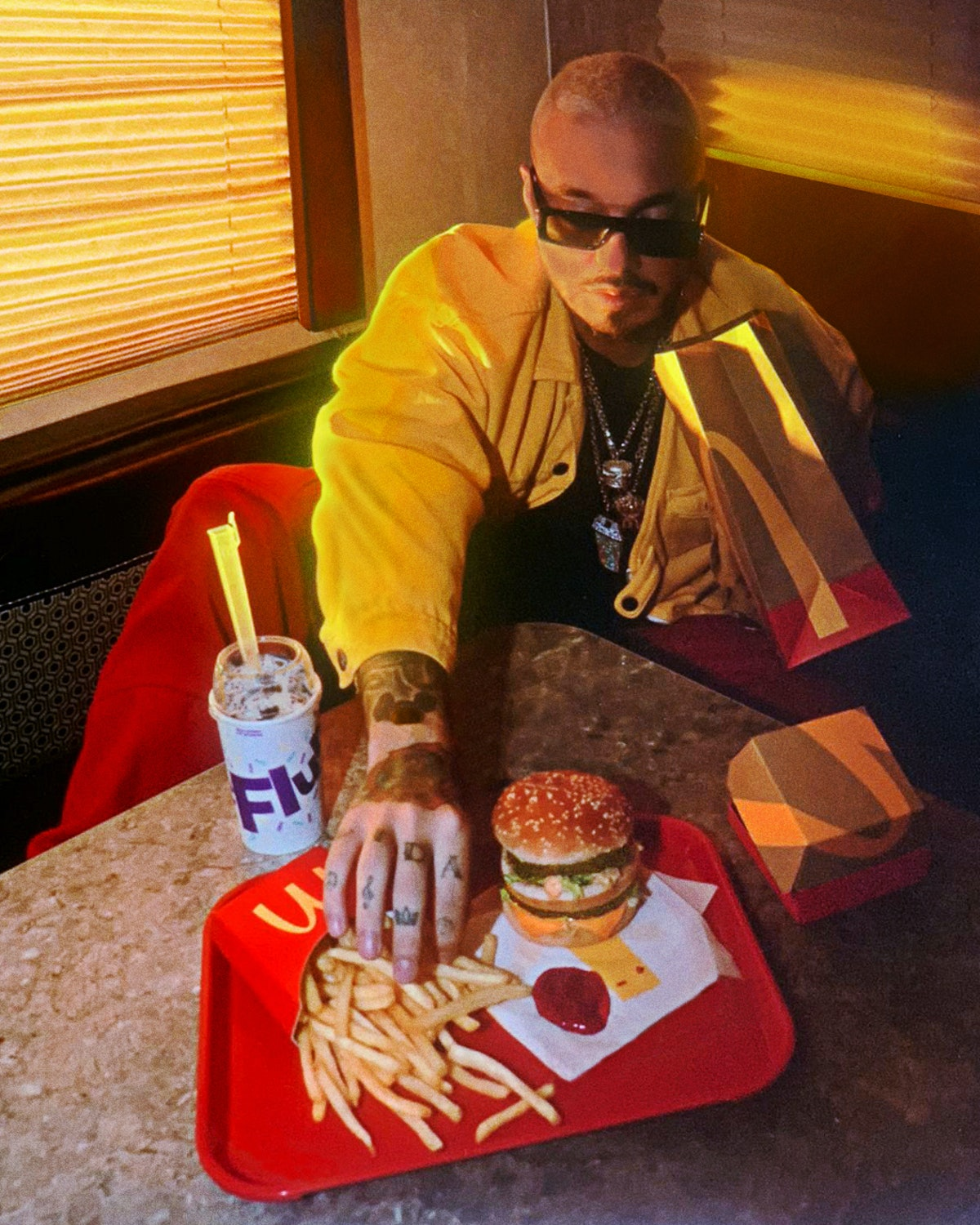 The McDonald's J Balvin meal includes a sweet treat.