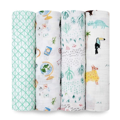 aden + anais Swaddle Blanket (4-Pack)