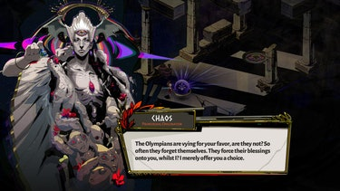 A screenshot of Chaos from Hades.