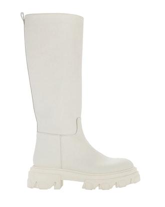 Tubular Knee-High Combat Boots