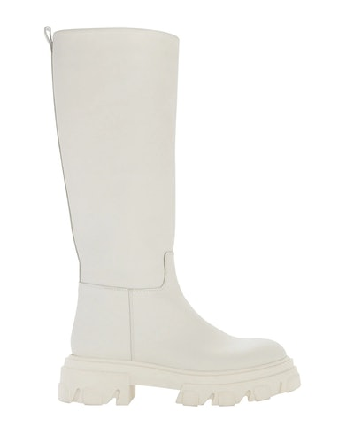 Tubular Knee-High Combat Boots