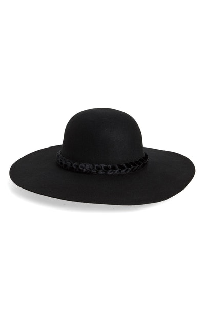 Rachel Parcell Floppy Brim Wool Hat with Velvet Trim