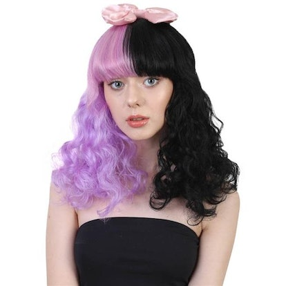 Banana Costumes Goods HW-558A Two Tone Wig, Purple & Black