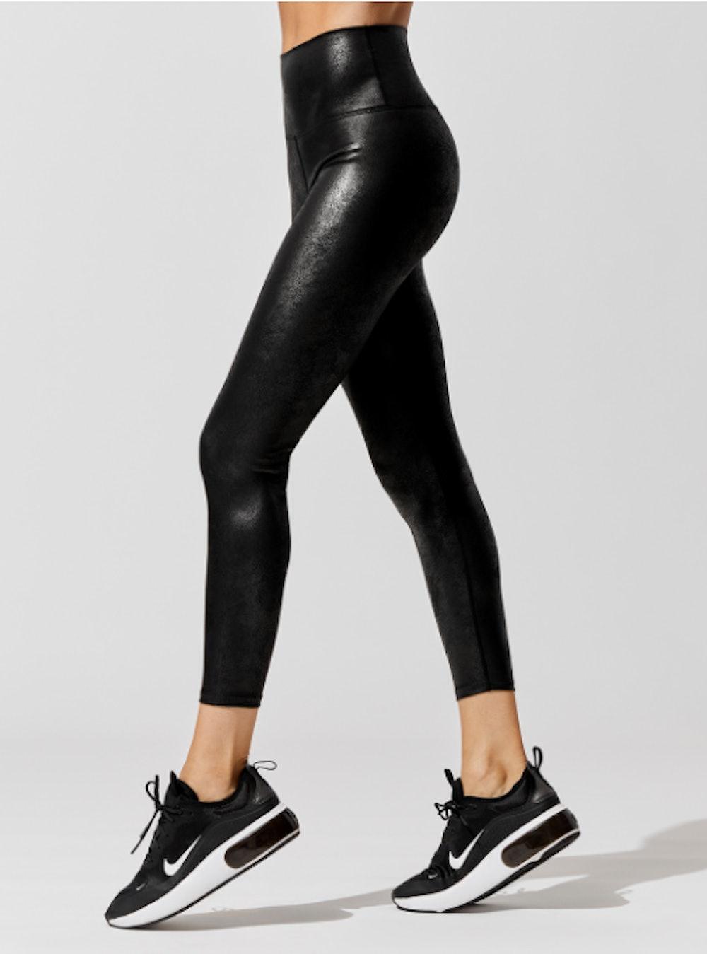 Carbon38 Leatherette High Rise 7/8 Legging