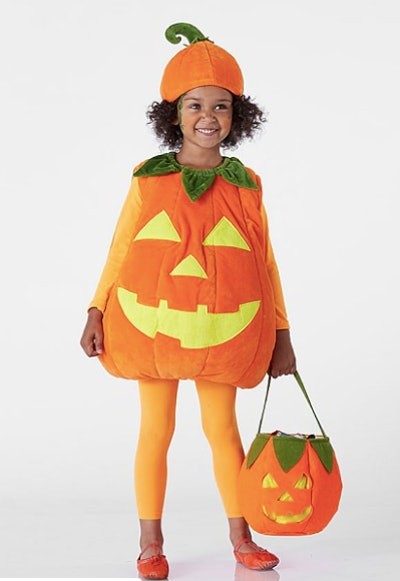 Kids Glow-in-the-Dark Pumpkin Halloween Costume