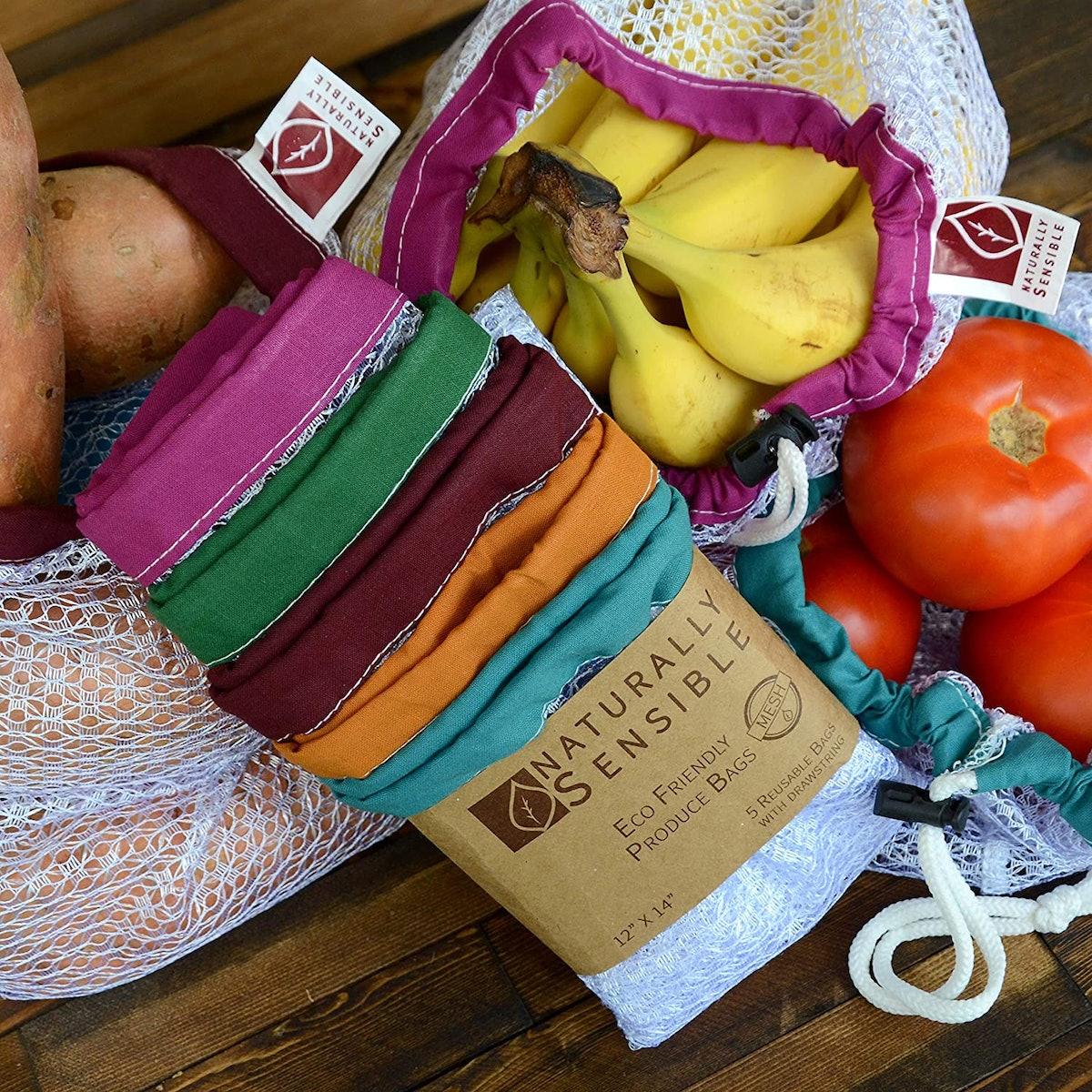 Naturally Sensible Reusable Produce Bags (5-Pack)