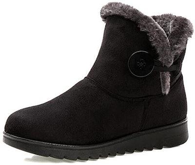 TN TANGNEST Fur Lined Womens Snow Boots