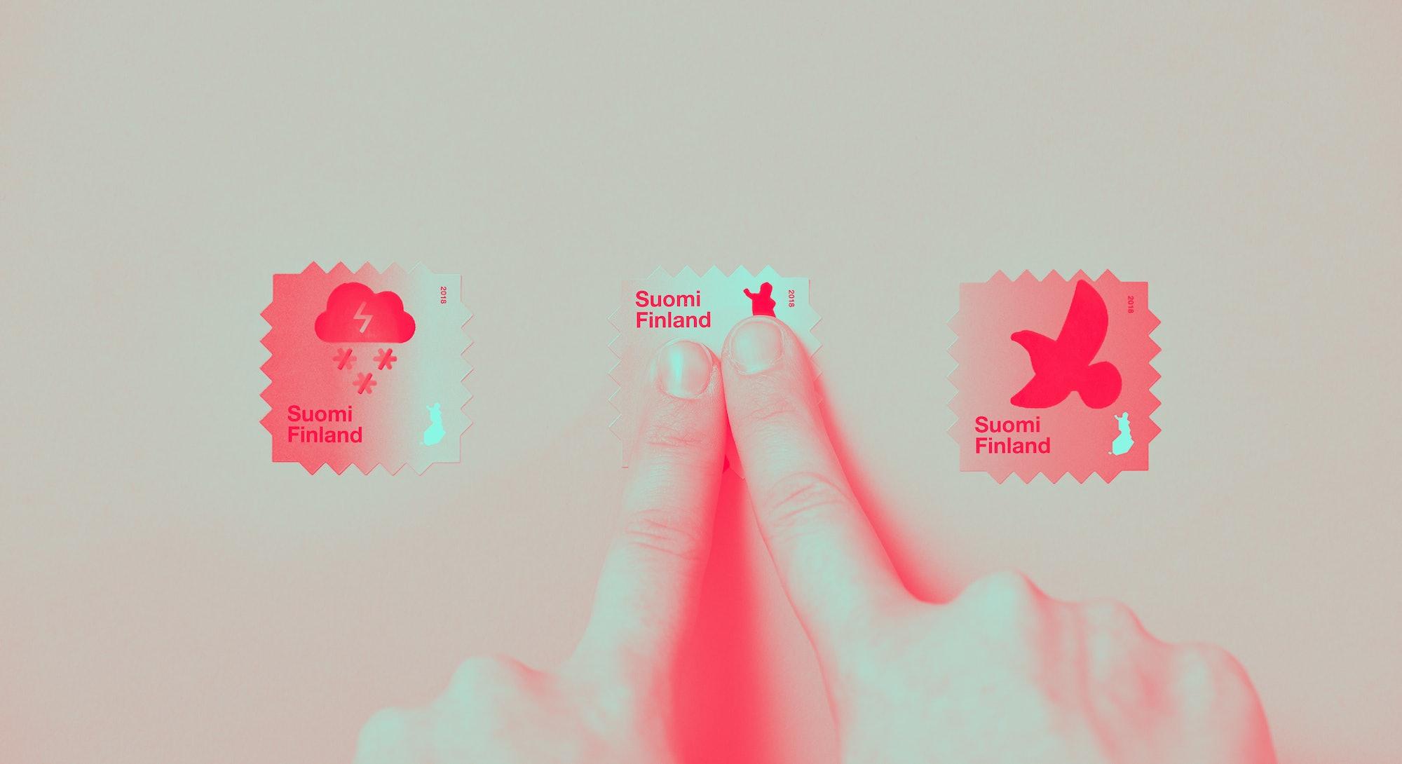 Heat reactive stamps.