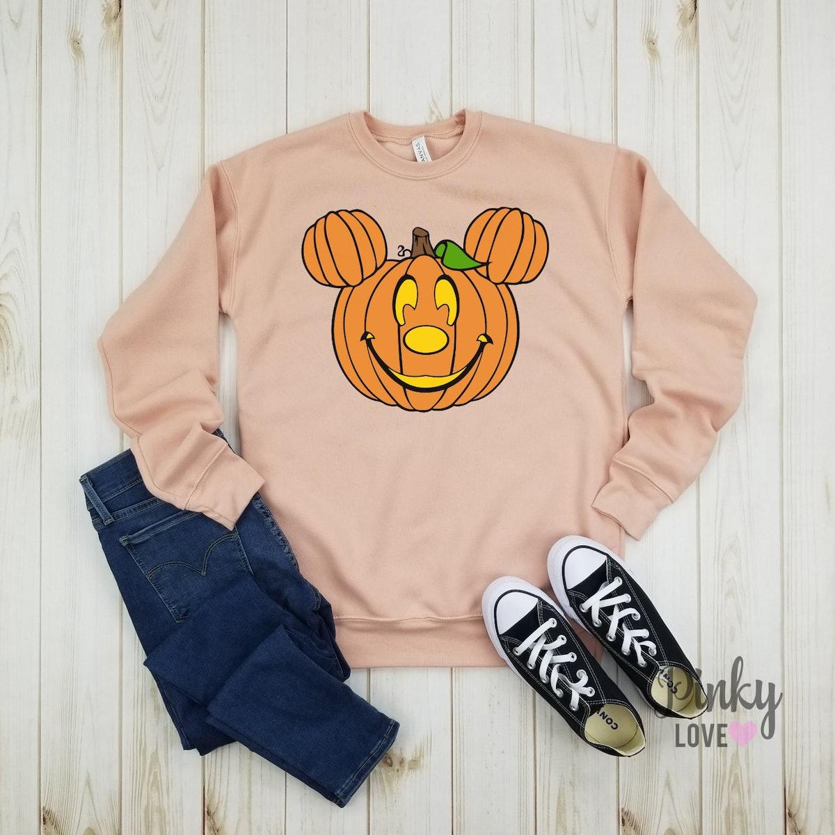 Mickey Pumpkin - Unisex Fleece Sweatshirt