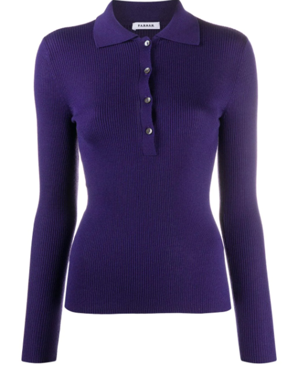 Buttoned Wool Knitted Top
