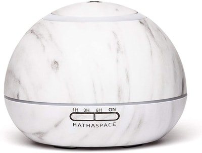 Hathaspace Marble 350-Milliliter Essential Oil Diffuser & Ultrasonic Humidifier