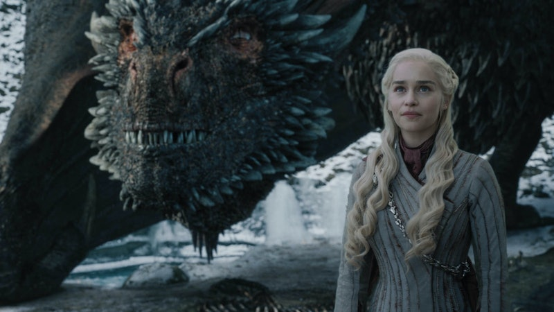 Emilia Clarke revealed her theory about what happened to Drogon and Daenerys after the 'Game of Thrones' finale.