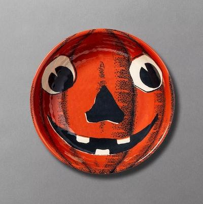 Jack O' Treats Pumpkin Melamine Candy Bowl
