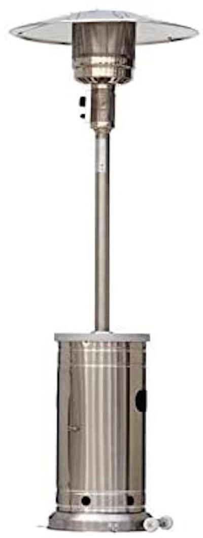 Garden Treasures 48000-BTU Stainless Steel Floorstanding Patio Heater