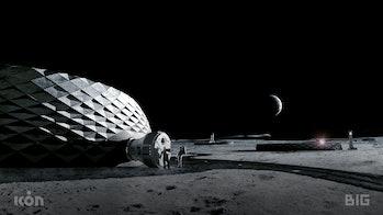 Concept render of moon habitat