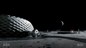 Concept render of moon habitat