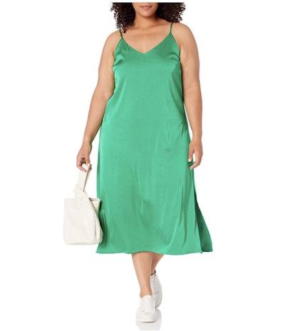 The Drop Ana V-Neck Midi Slip Dress