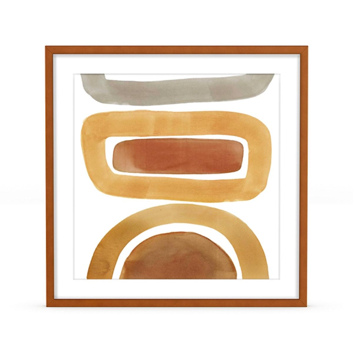 Natural Boho Harmonious Framed Art Print