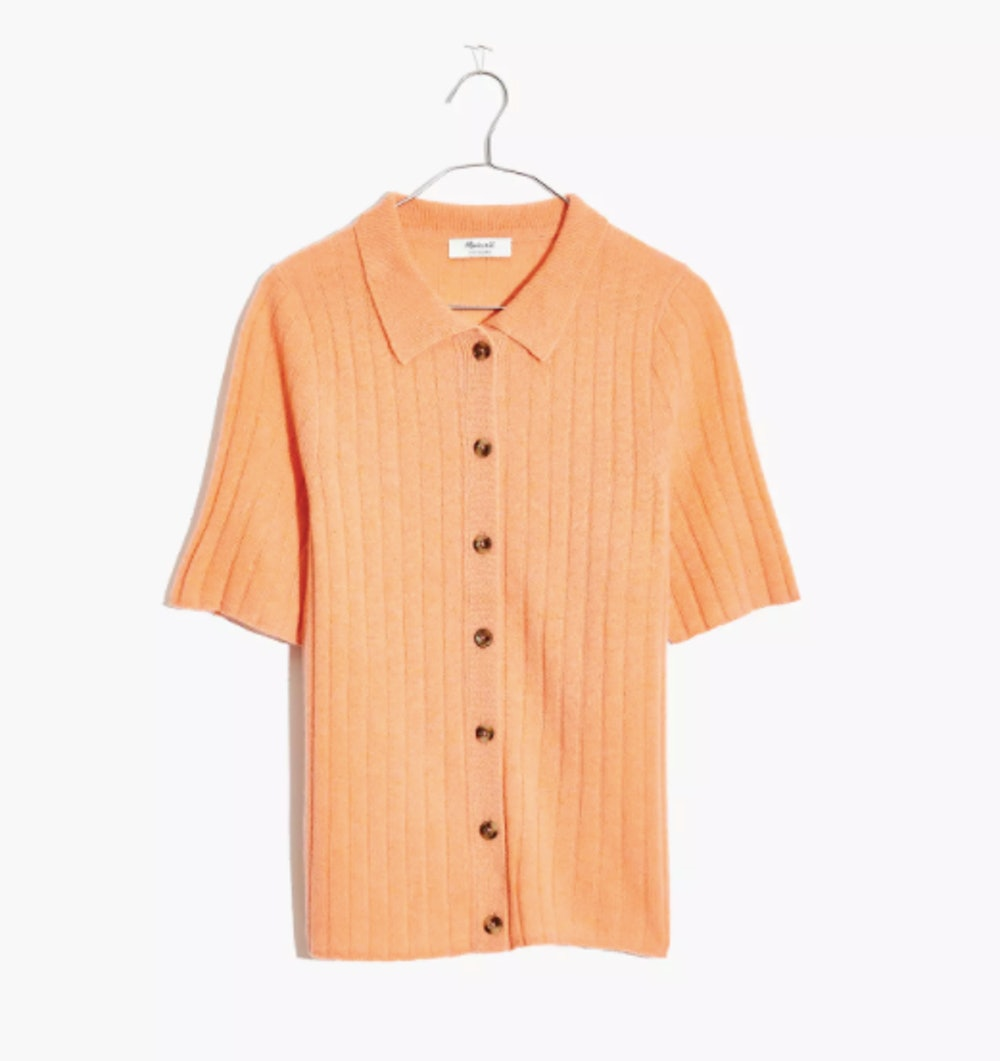 Cashmere Polo Cardigan Sweater