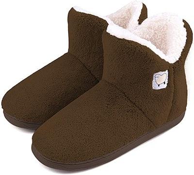 Dailybella Warm Plush Slipper Boots