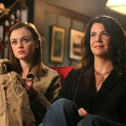 Rory and Lorelai Gilmore on Gilmore Girls.