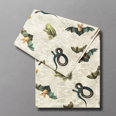 """90"""" x 20"""" Creepy and Crawly Critter Print Table Runner"""