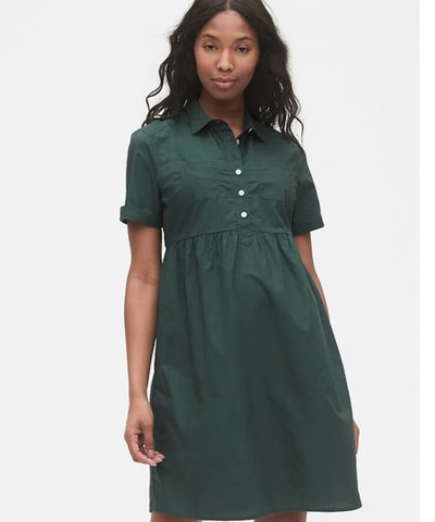 Maternity Utility Dress in Olive