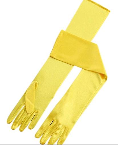 "BlackSunnyDay Women's 19"" Opera Long Satin Gloves"
