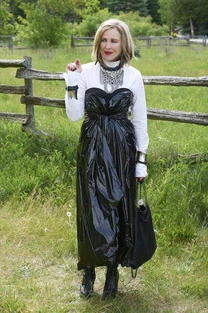 moira rose pvc dress