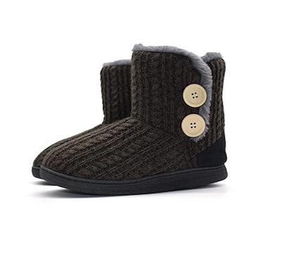 ONCAI Fluffy Faux Fur Slipper Boots