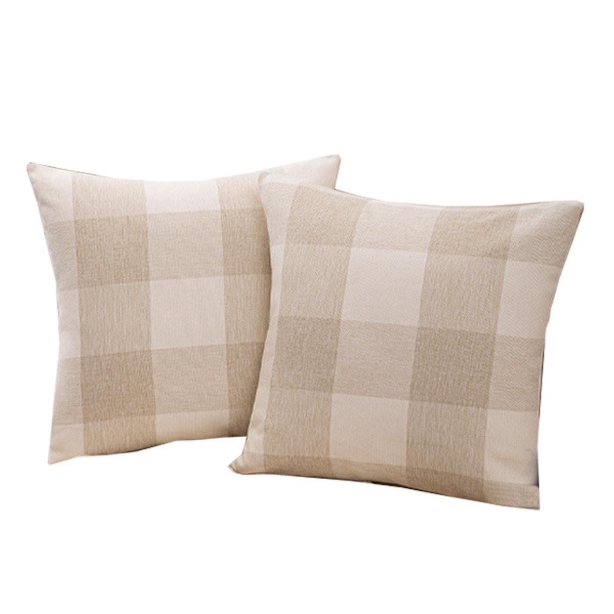 Plaid Throw Pillow