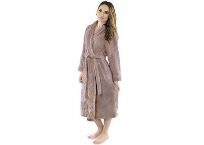 NY Threads Fleece Bathrobe