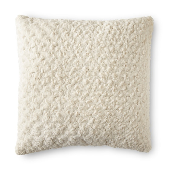 Rosette Plush Decorative Toss Pillow