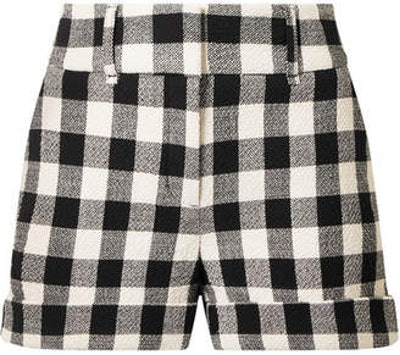 Carito checked cotton shorts