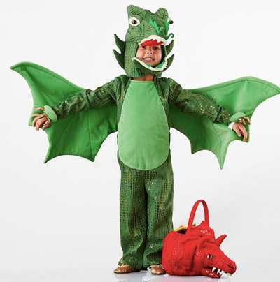 Kids Green Dragon Halloween Costume