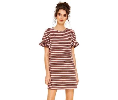 Floerns Ruffle T-Shirt Dress