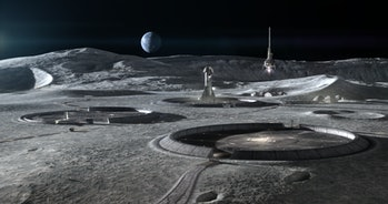 Concept render of moon base