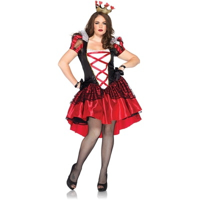 Leg Avenue Plus Size Two-Piece Royal Red Queen Costume